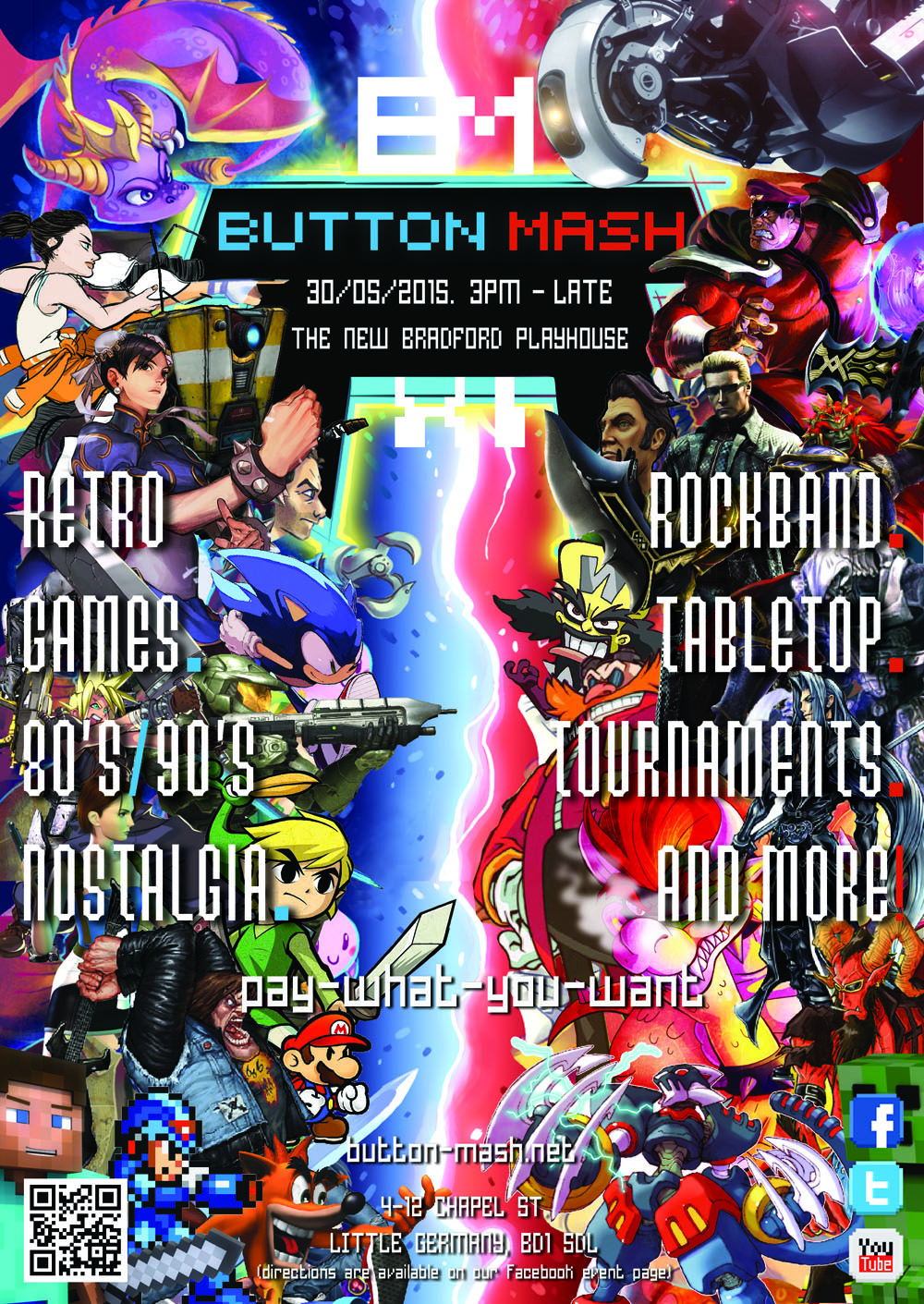 1 - Button Mash XI -  Flyer - Front