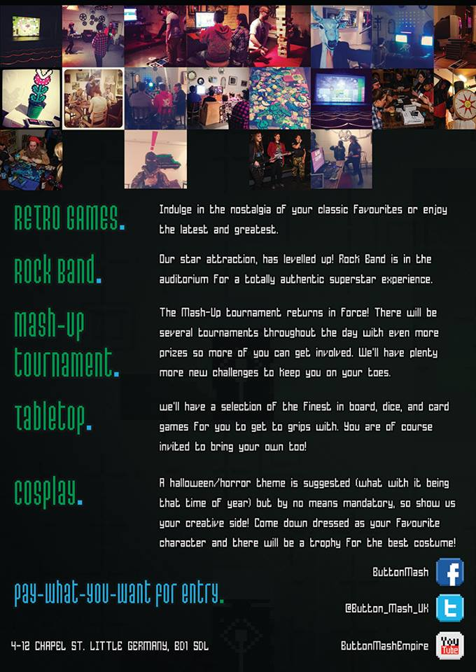 Button Mash 9 Flyer Side 2